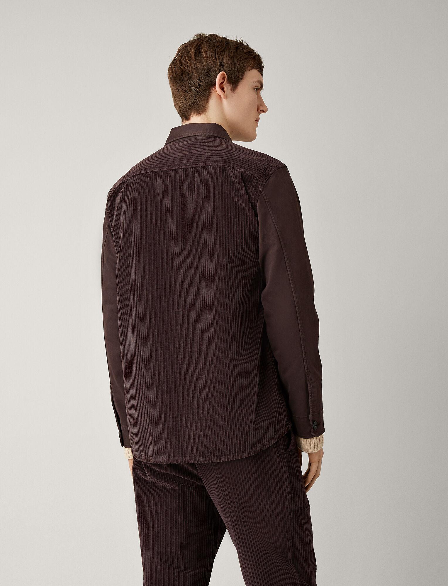 Joseph, Bennet Corduroy Shirt, in BURGUNDY