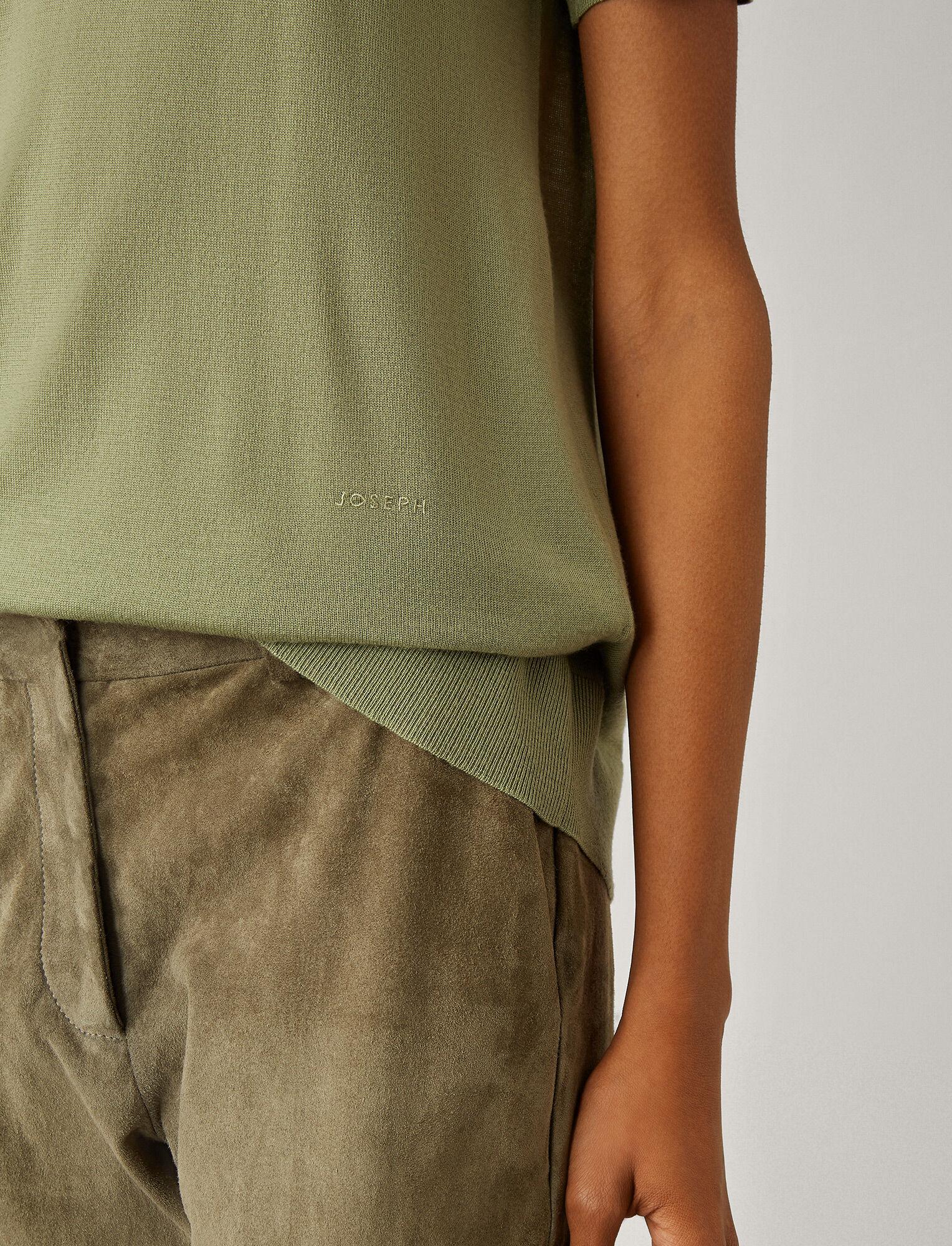 Joseph, Tee-shirt en laine mérinos fine, in SAGE