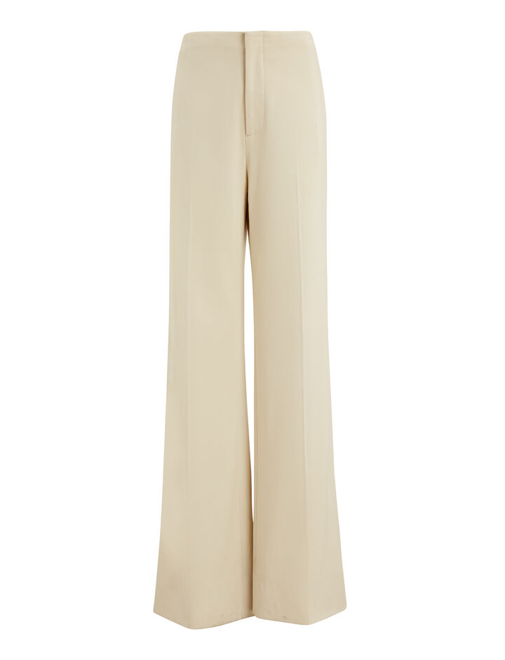 Joseph, Kirk Cotton Viscose Stretch Trousers, in BONE