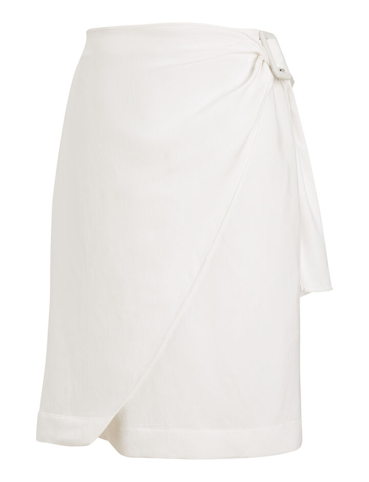 Joseph, Shea Fluid Ramie Skirt, in WHITE