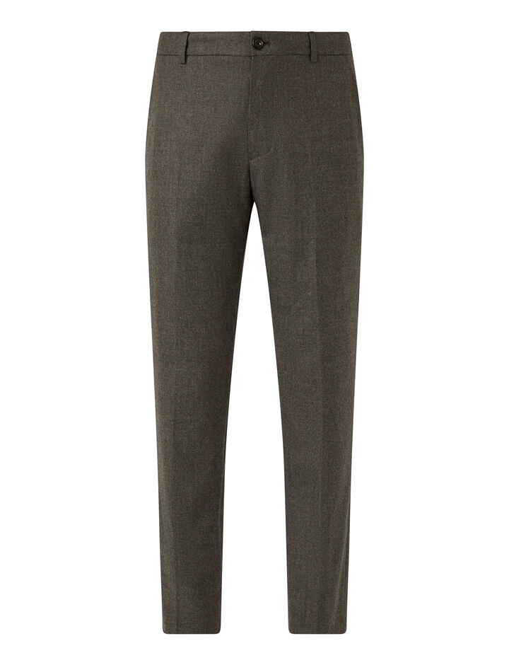 Joseph, Flannel Stretch Jack Trousers, in LIGHT GREY
