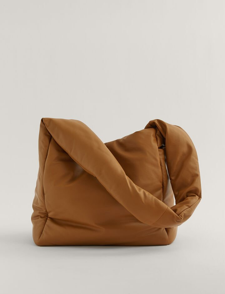 Joseph, Slouch Xl  Padded Leather Shoulder Bag, in Camel