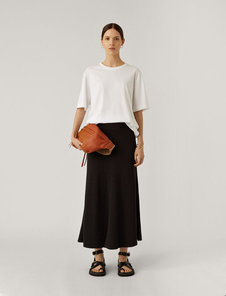 Joseph, Skirt-Cote Anglaise, in CHARCOAL