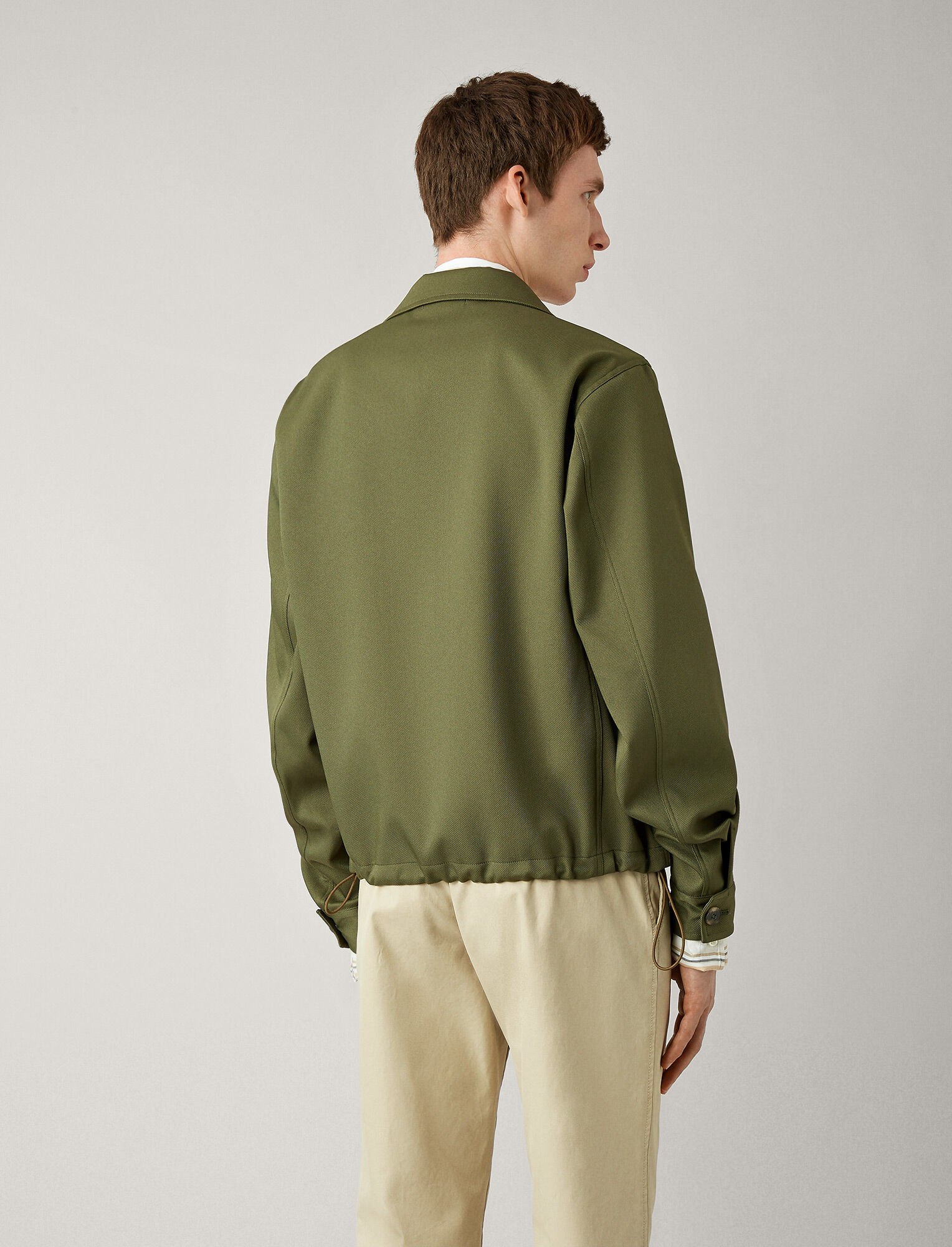Joseph, Chris Engineered Twill Coat, in KHAKI