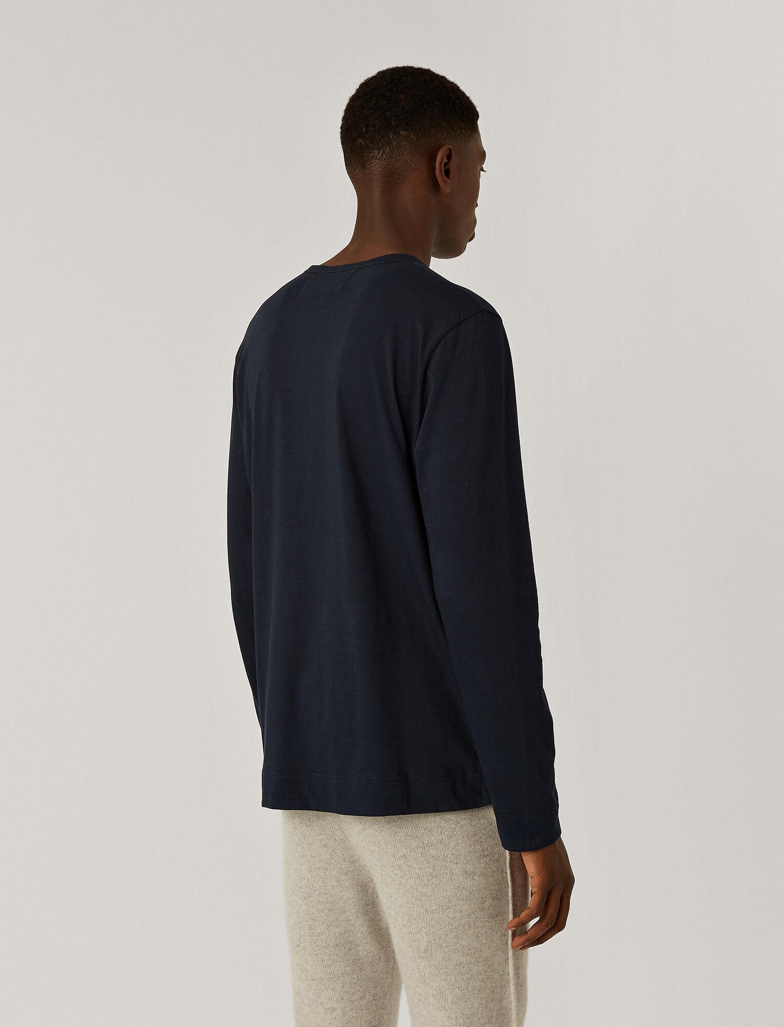 Joseph, Tee-shirt col rond en jersey de lyocell, in NAVY