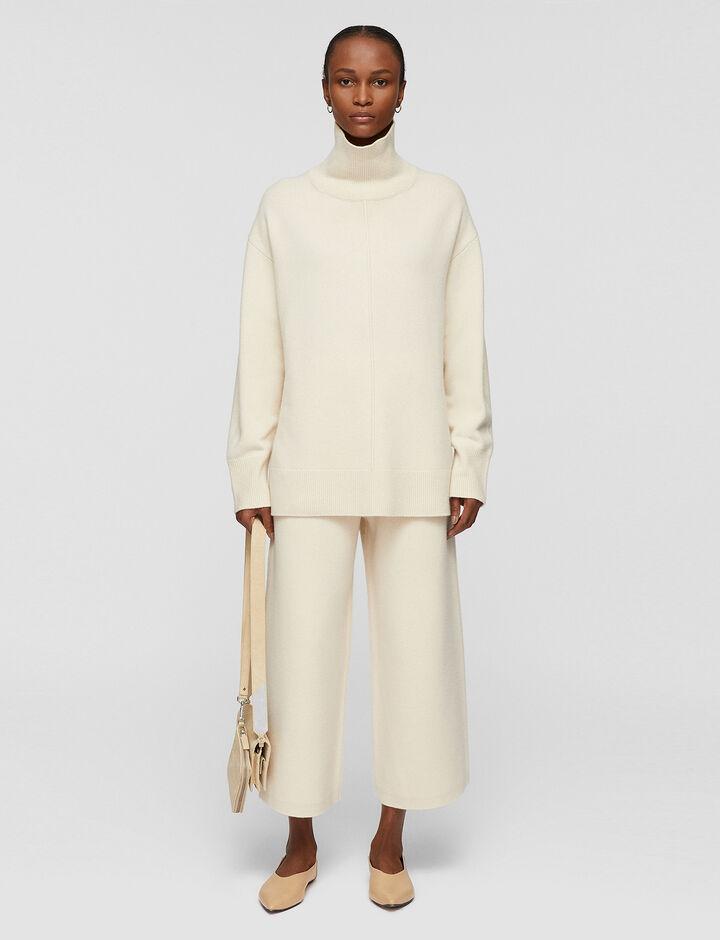 Joseph, Soft Wool High Neck Jumper, in IVORY
