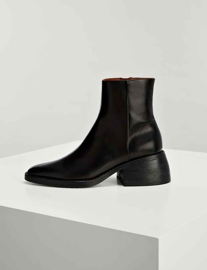 Joseph, Calf Leather Templer Boots, in BLACK
