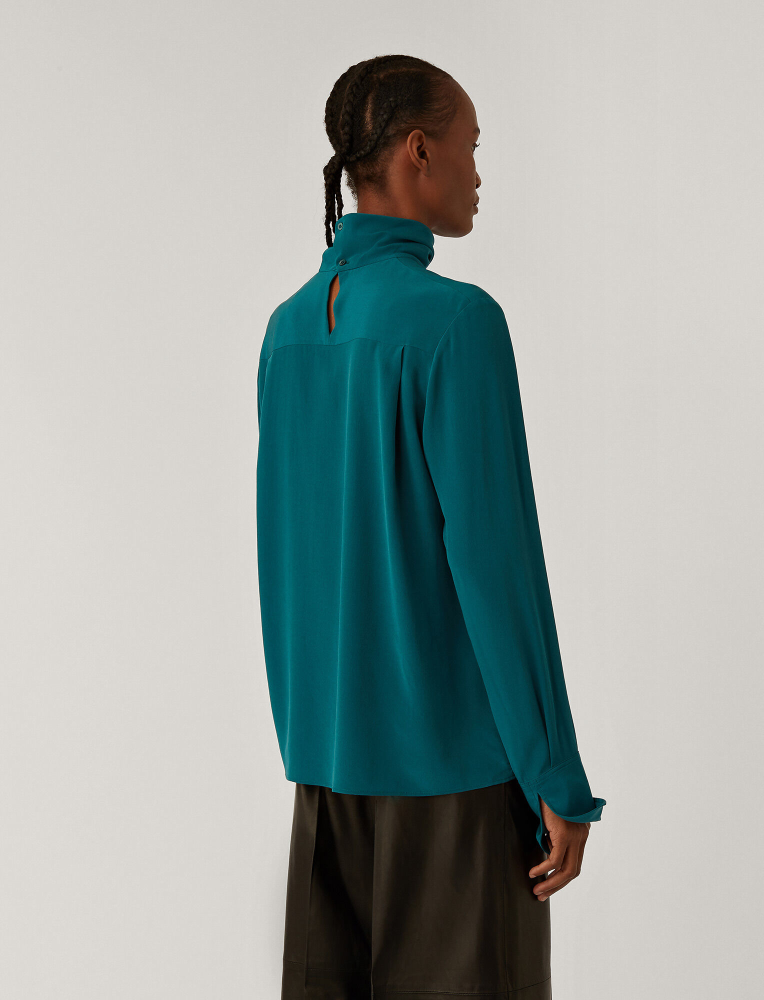 Joseph, Biva Crepe De Chine Blouse, in Teal
