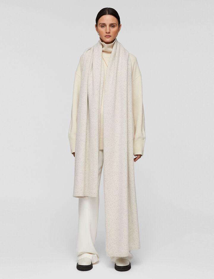 Joseph, Tweed Knit Plaid, in SANDSHELL