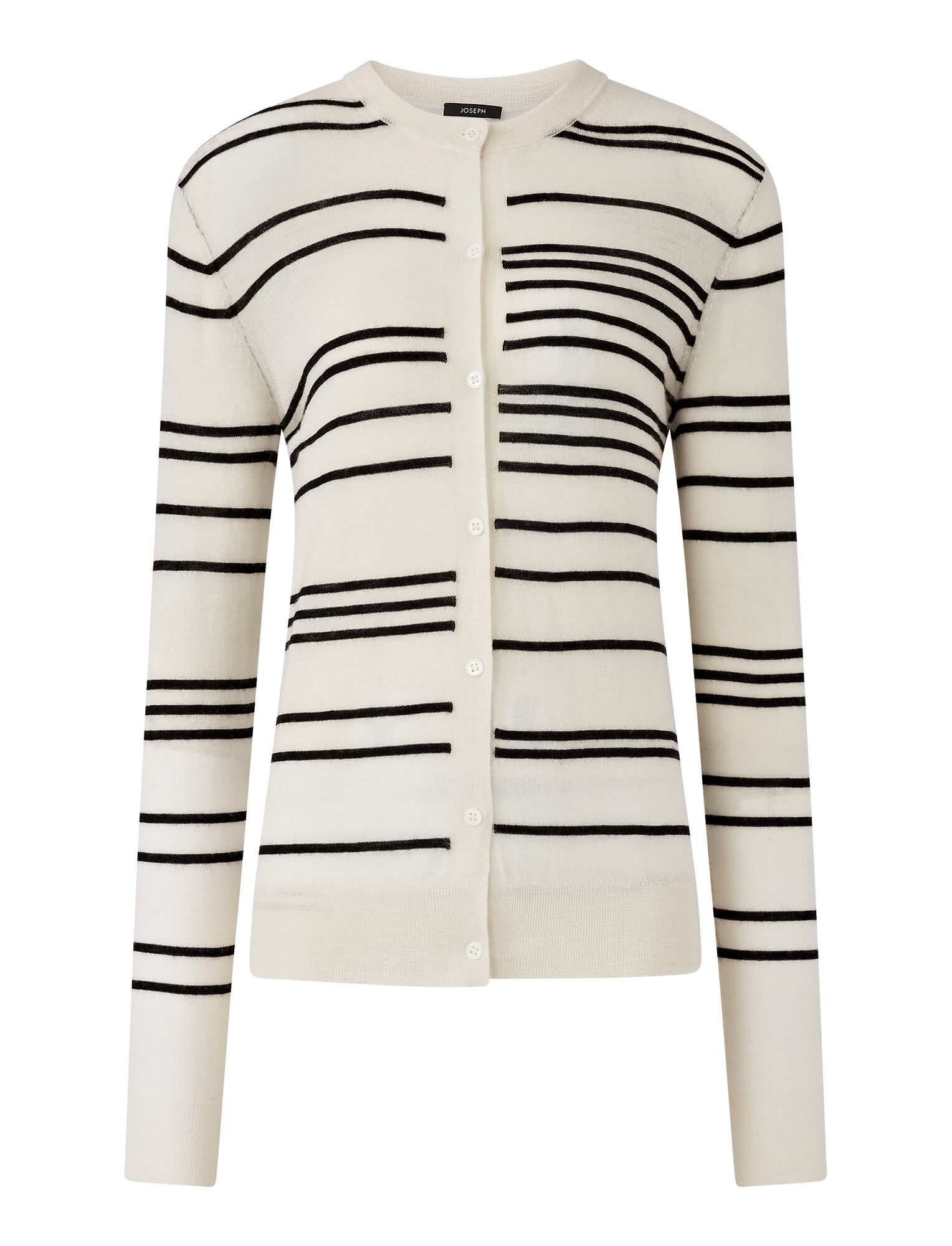 Joseph, Cashair Stripe Cardigan, in IVORY COMBO