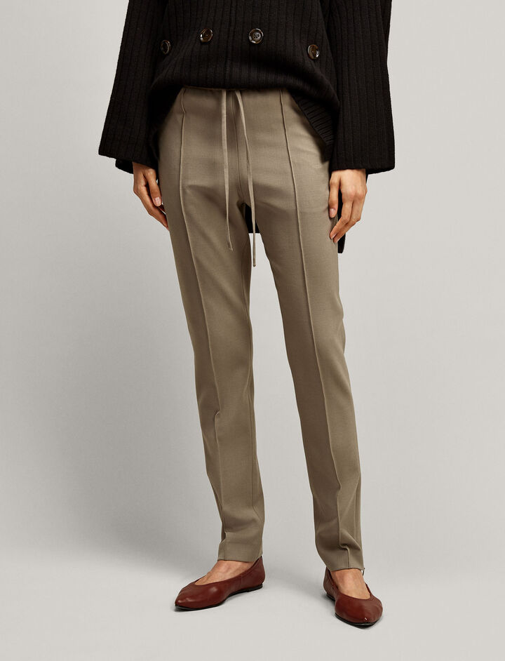 Joseph, New Dallas Comfort Wool Trousers, in LIGHT ARMY