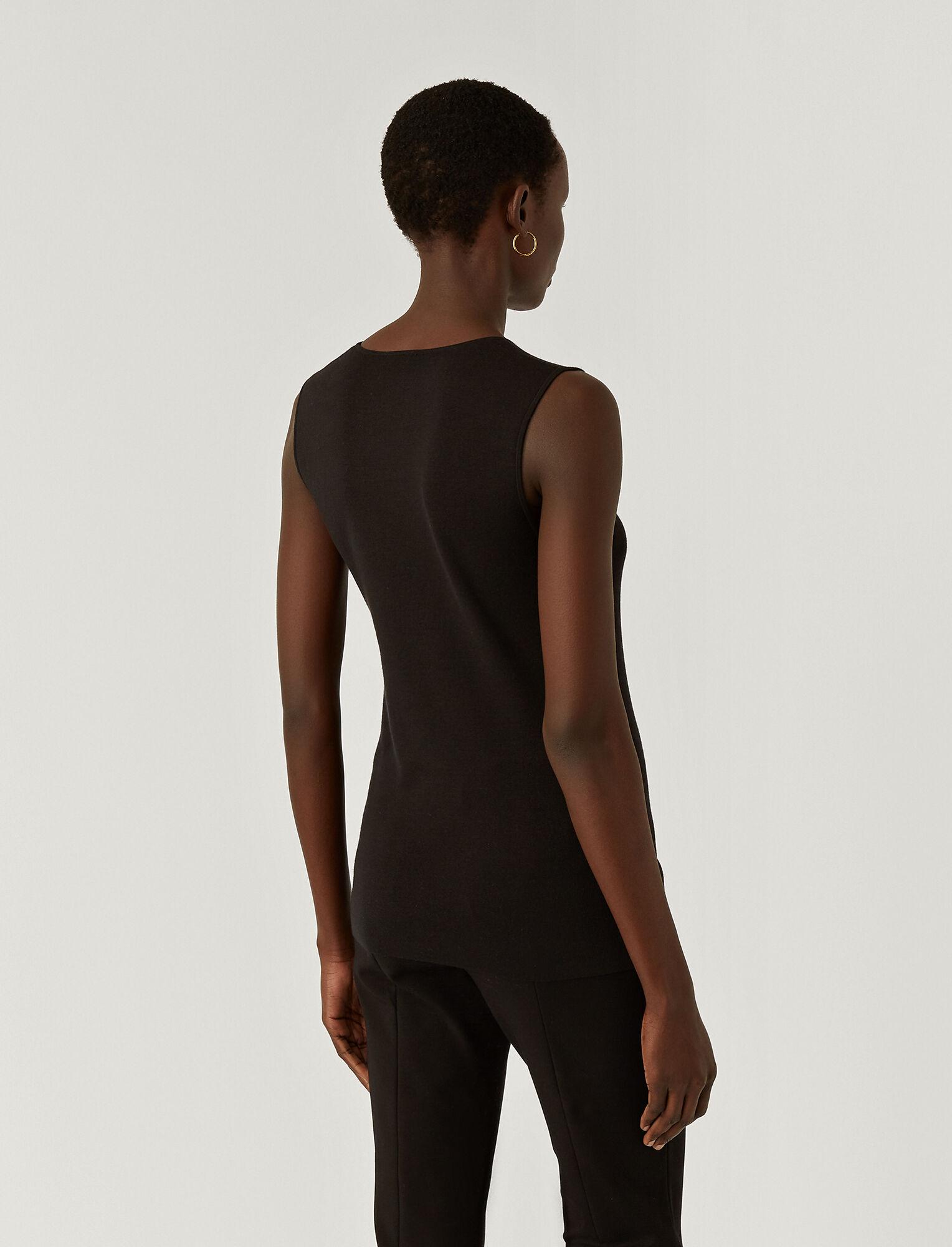 Joseph, Silk Stretch Tank Top, in BLACK