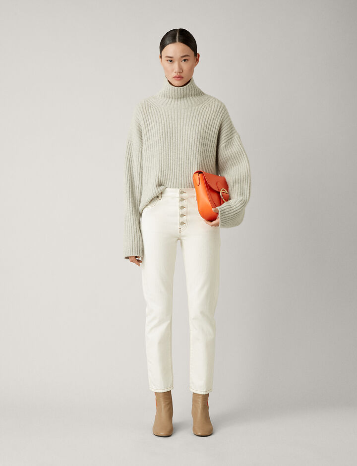 Joseph, Den White Denim Trousers, in WHITE