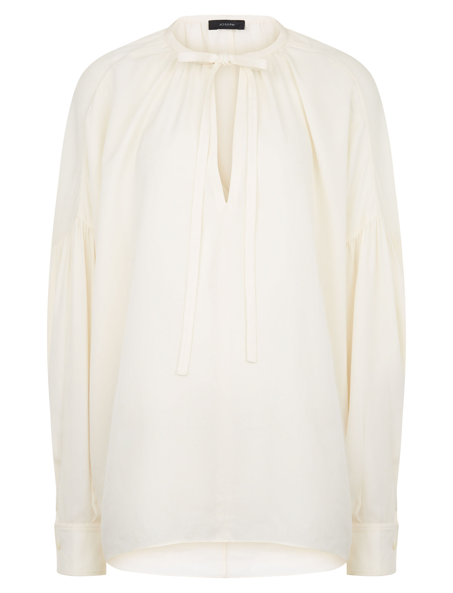 7bed400537 Elijah Silk Georgette Blouse in White
