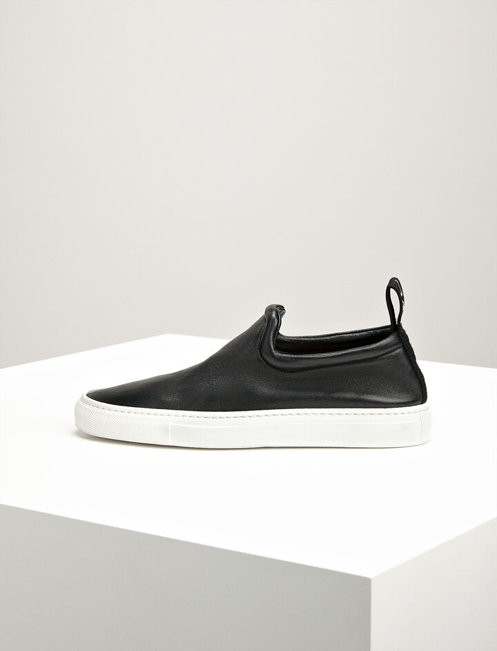 Joseph, Leather Dogtown Trainers, in BLACK