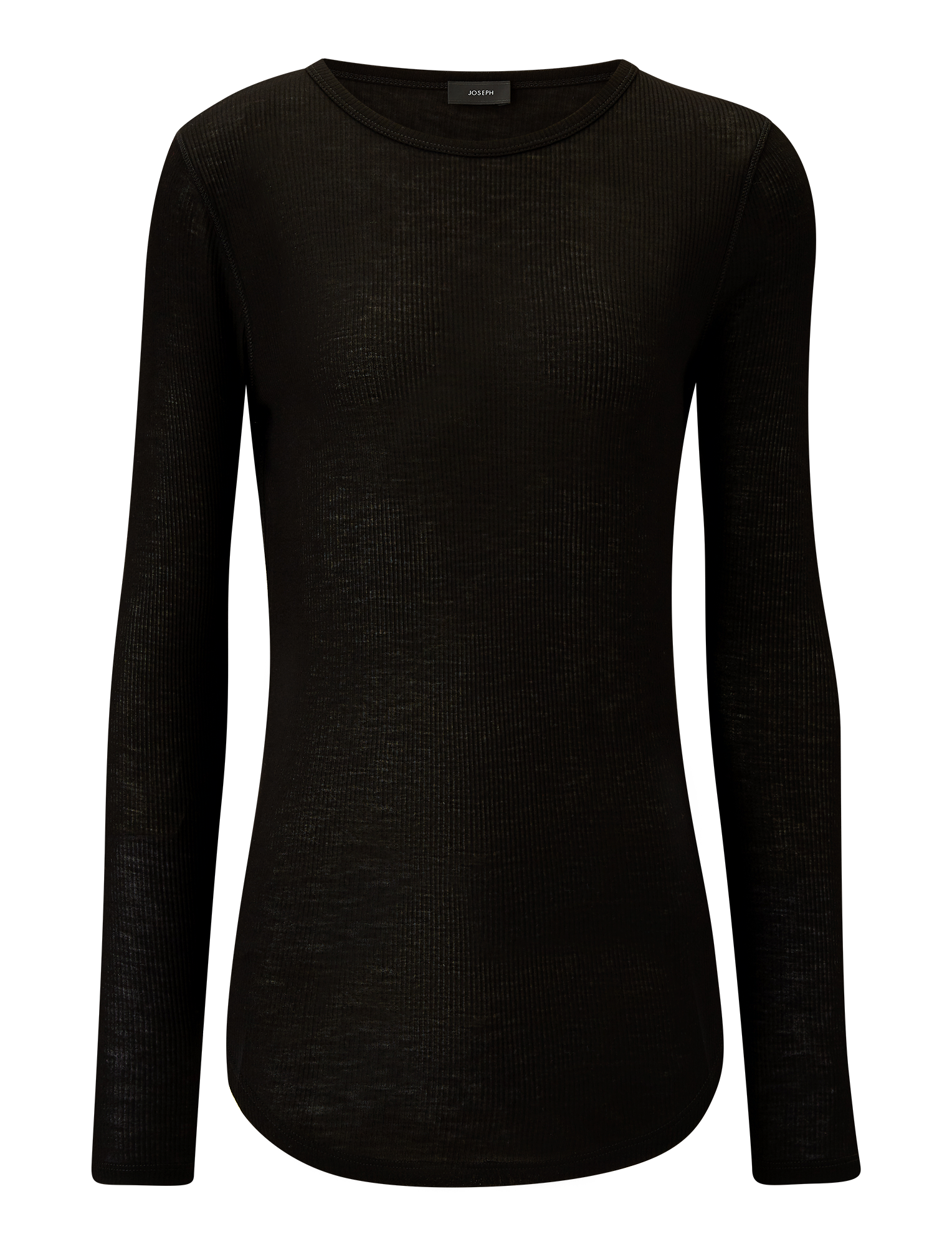 Joseph, Viscose Rib Jersey, in BLACK