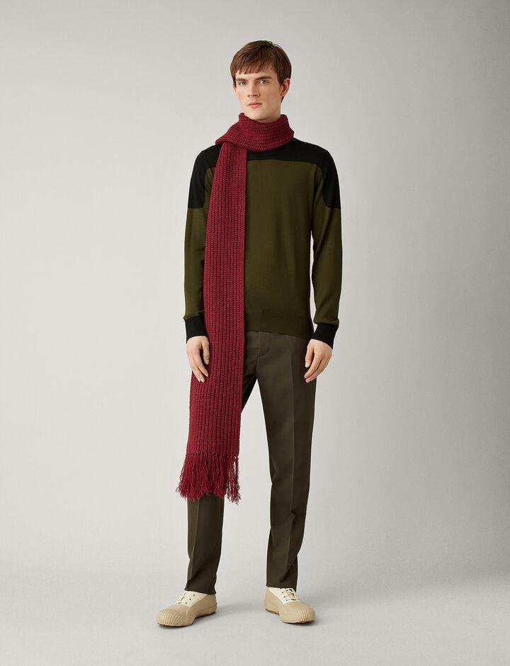 Joseph, Merinos Block Knit, in MILITARY