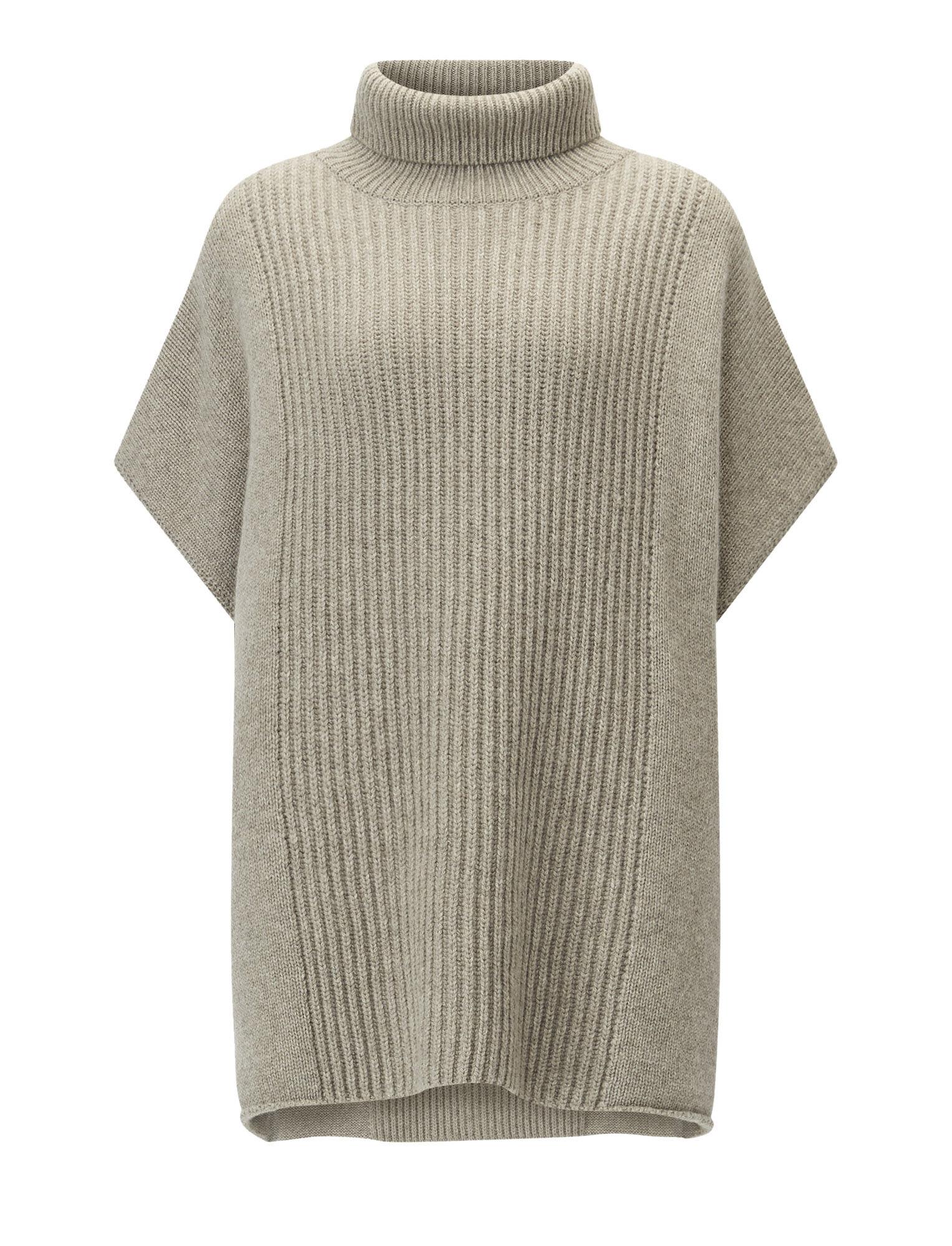 Joseph, Poncho en tricot de cachemire luxe, in QUARTZ