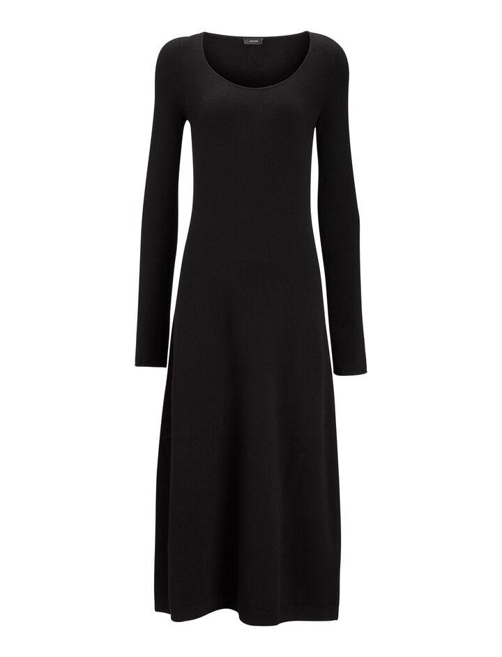 Joseph, Jahan Wool Stretch Dress, in BLACK