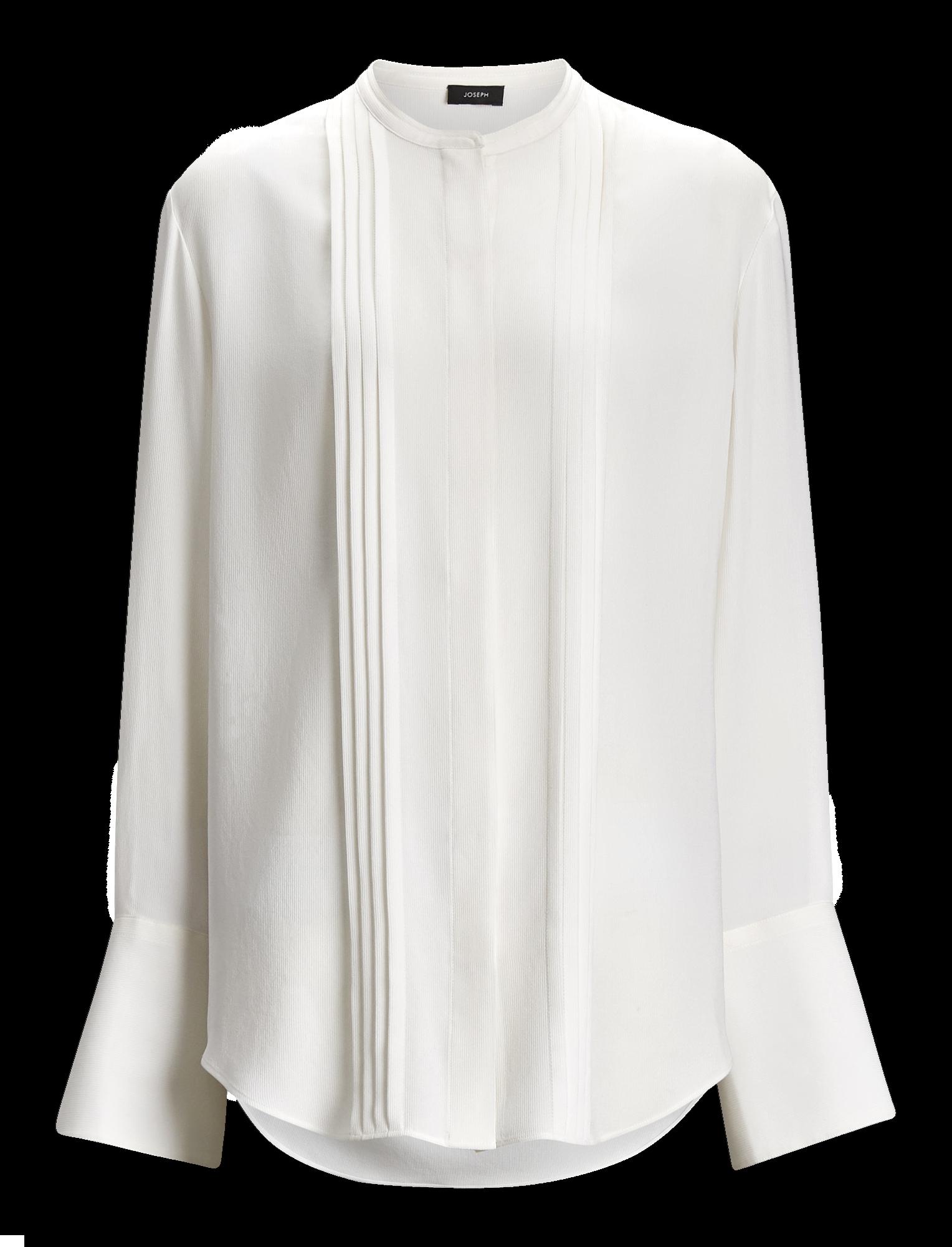 Joseph, Blouse Cristo en soie côtelée, in WHITE
