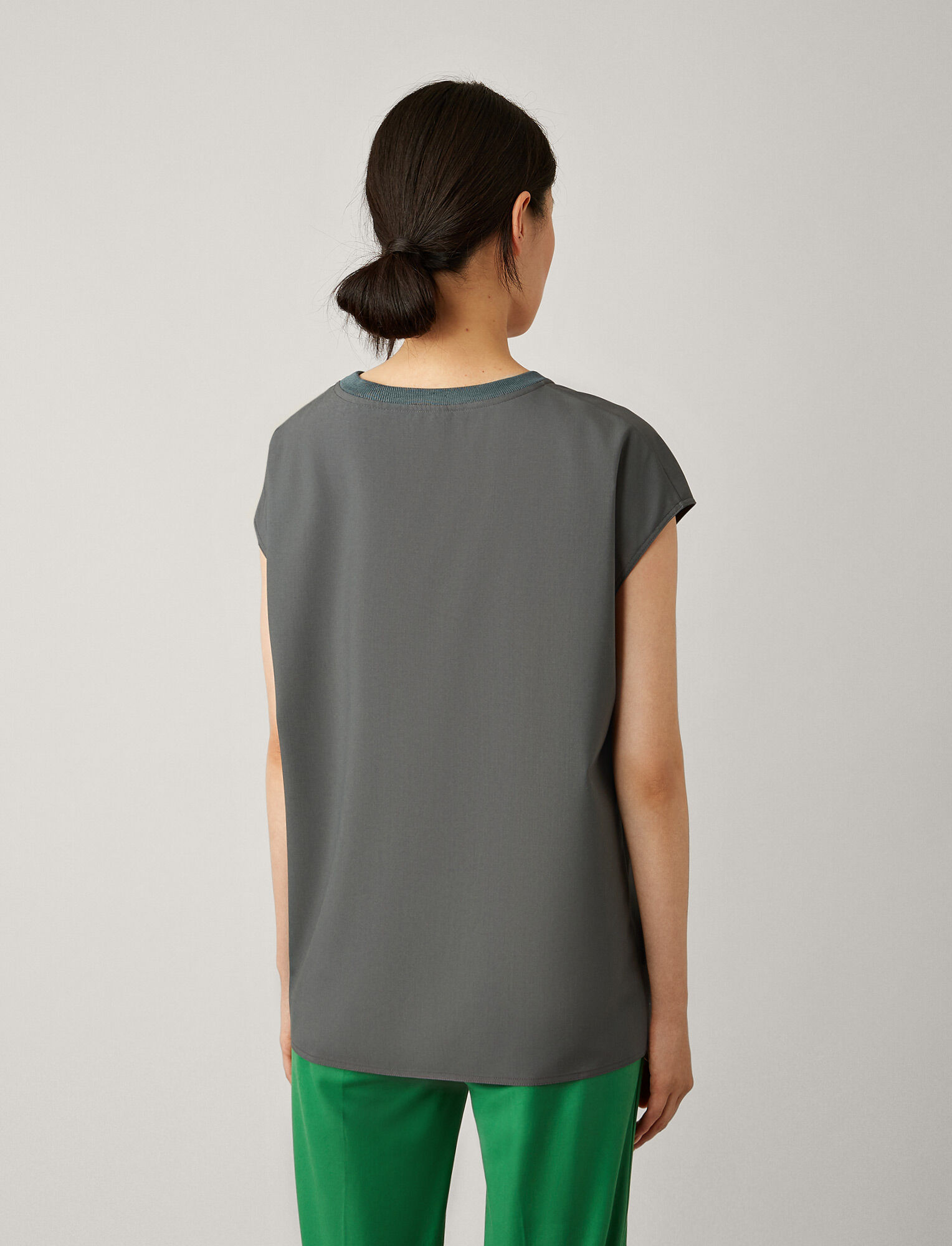 Joseph, Lance Toile de Laine Blouse, in SLATE GREY