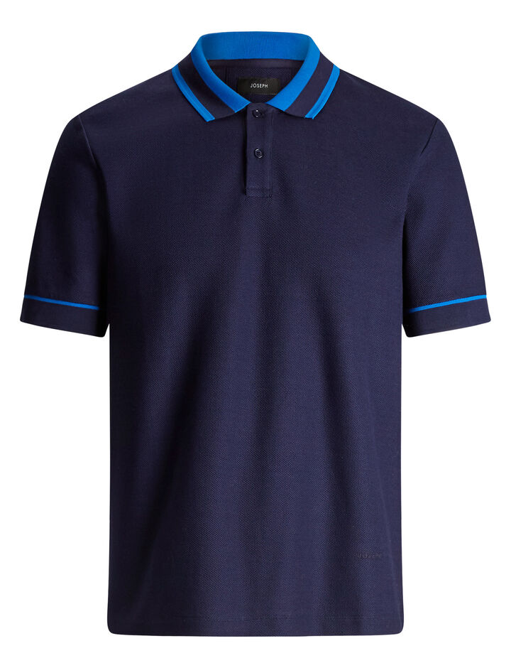 Joseph, Polo Piqué Jersey tee, in ROYAL BLUE
