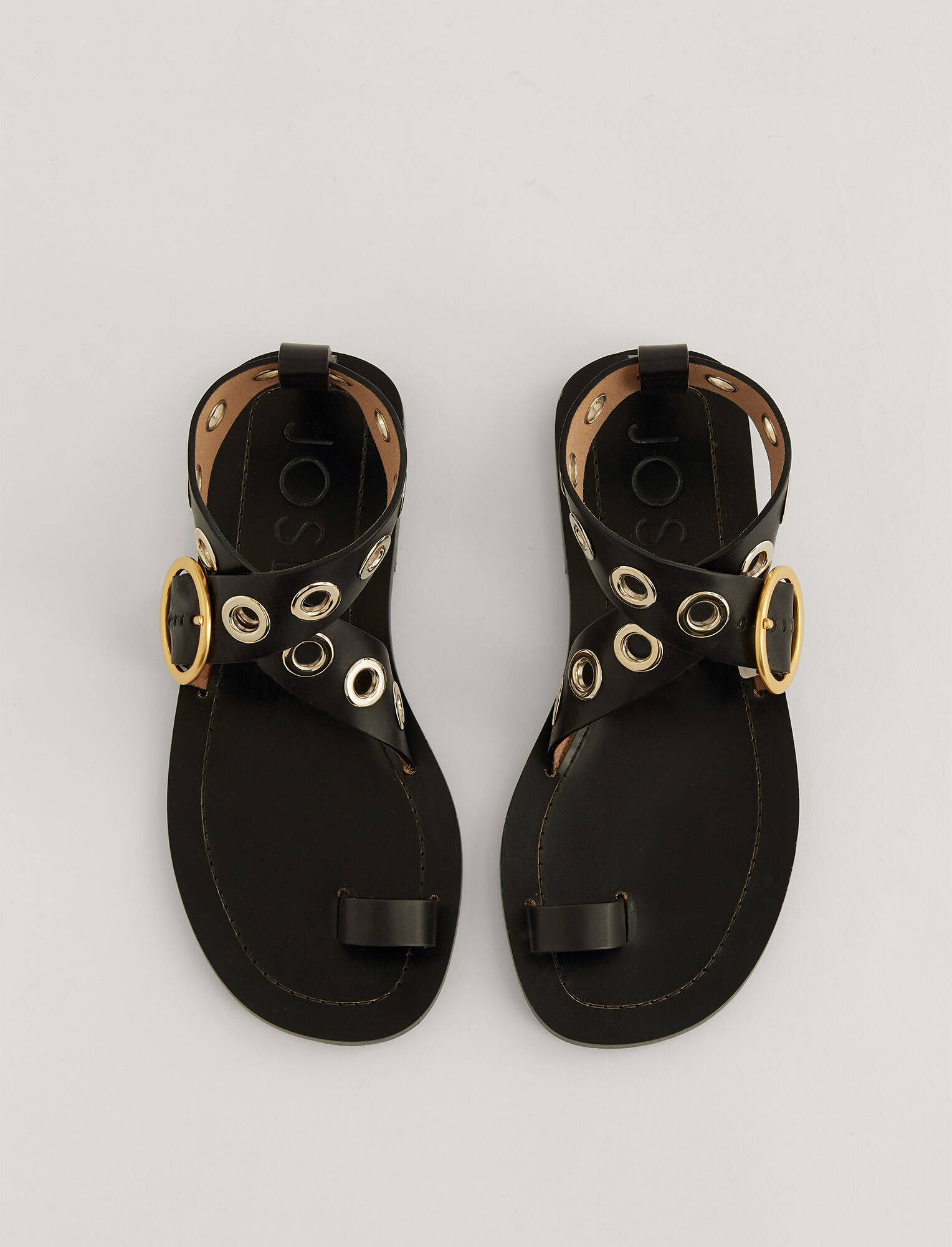 Joseph, Gava Leather Sandal, in BLACK