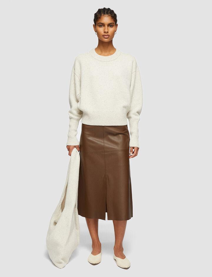 Joseph, Tweed Knit Bag, in SANDSHELL