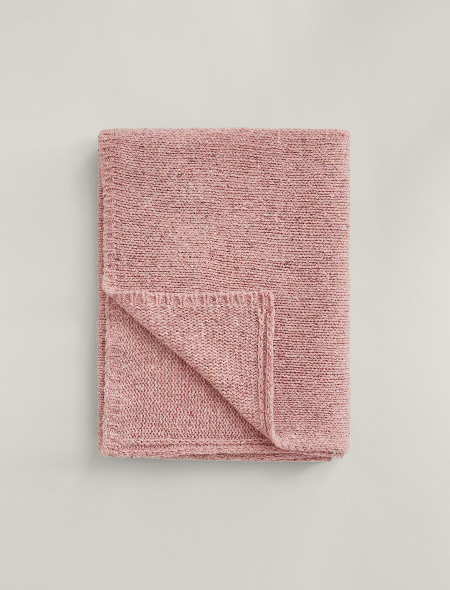Joseph, Tweed Knit Scarf, in PINK