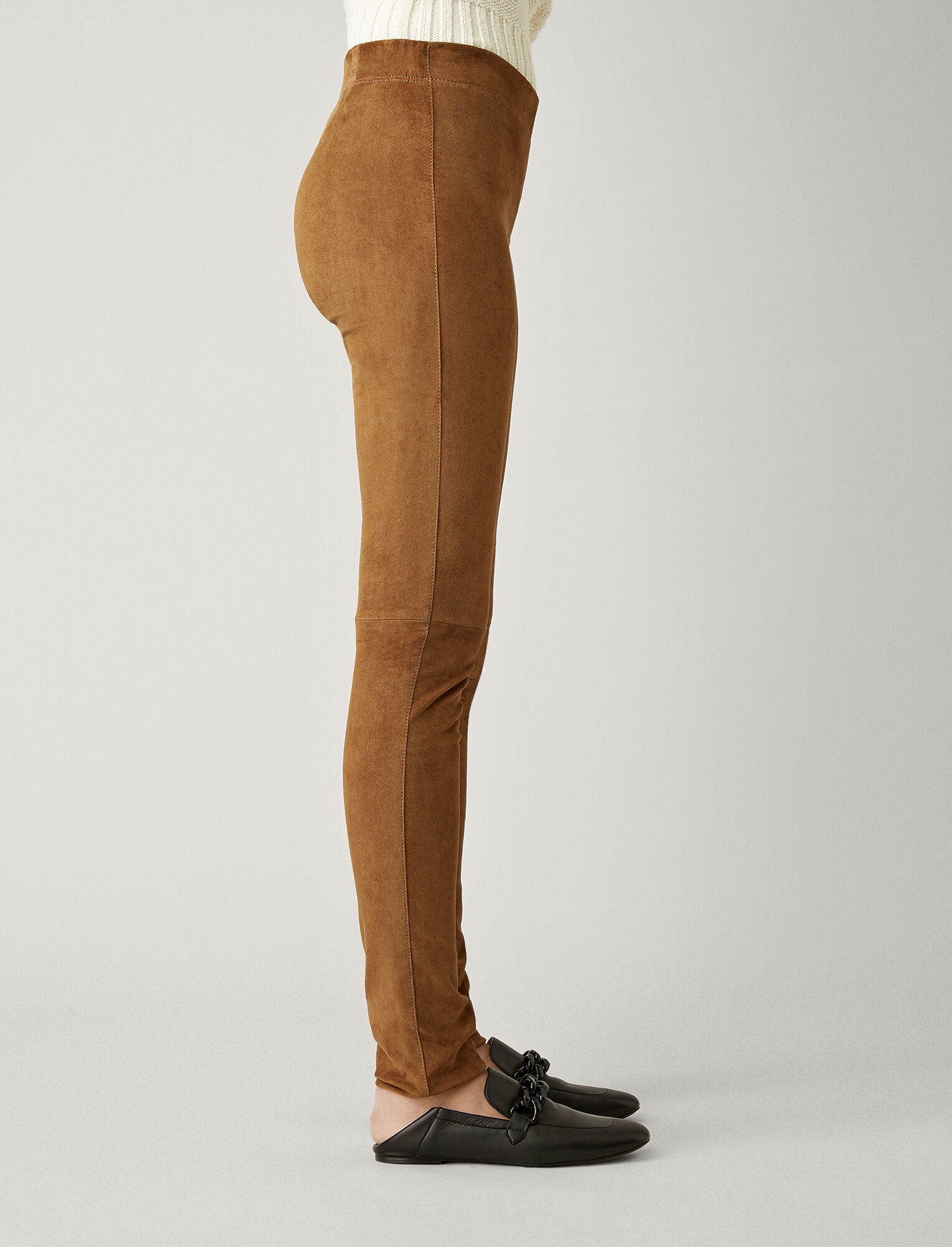 Joseph, Suede Stretch Legging, in SANDALWOOD