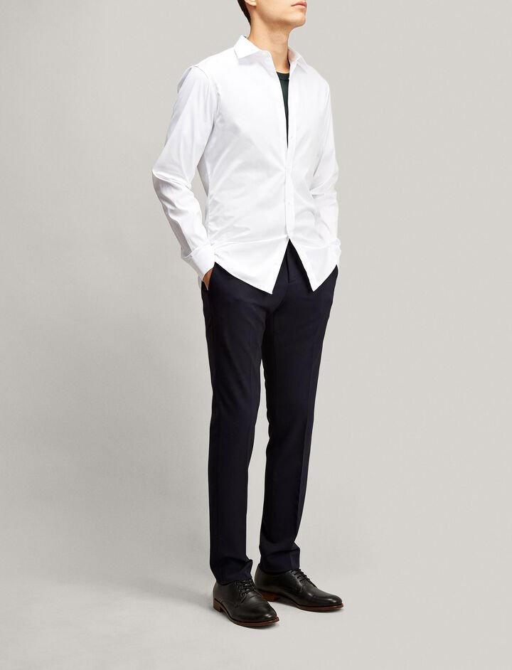 Joseph, Cecile Poplin + Poplin Stretch Shirt, in WHITE