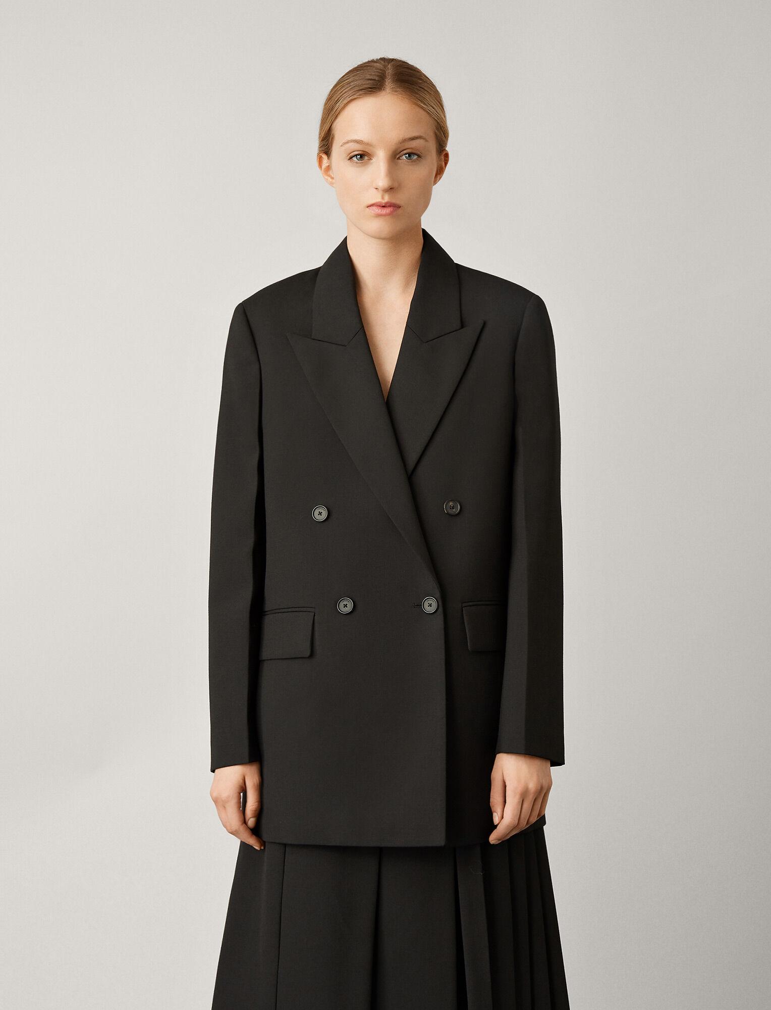 Joseph, Morgan Wool Granite Jacket, in BLACK