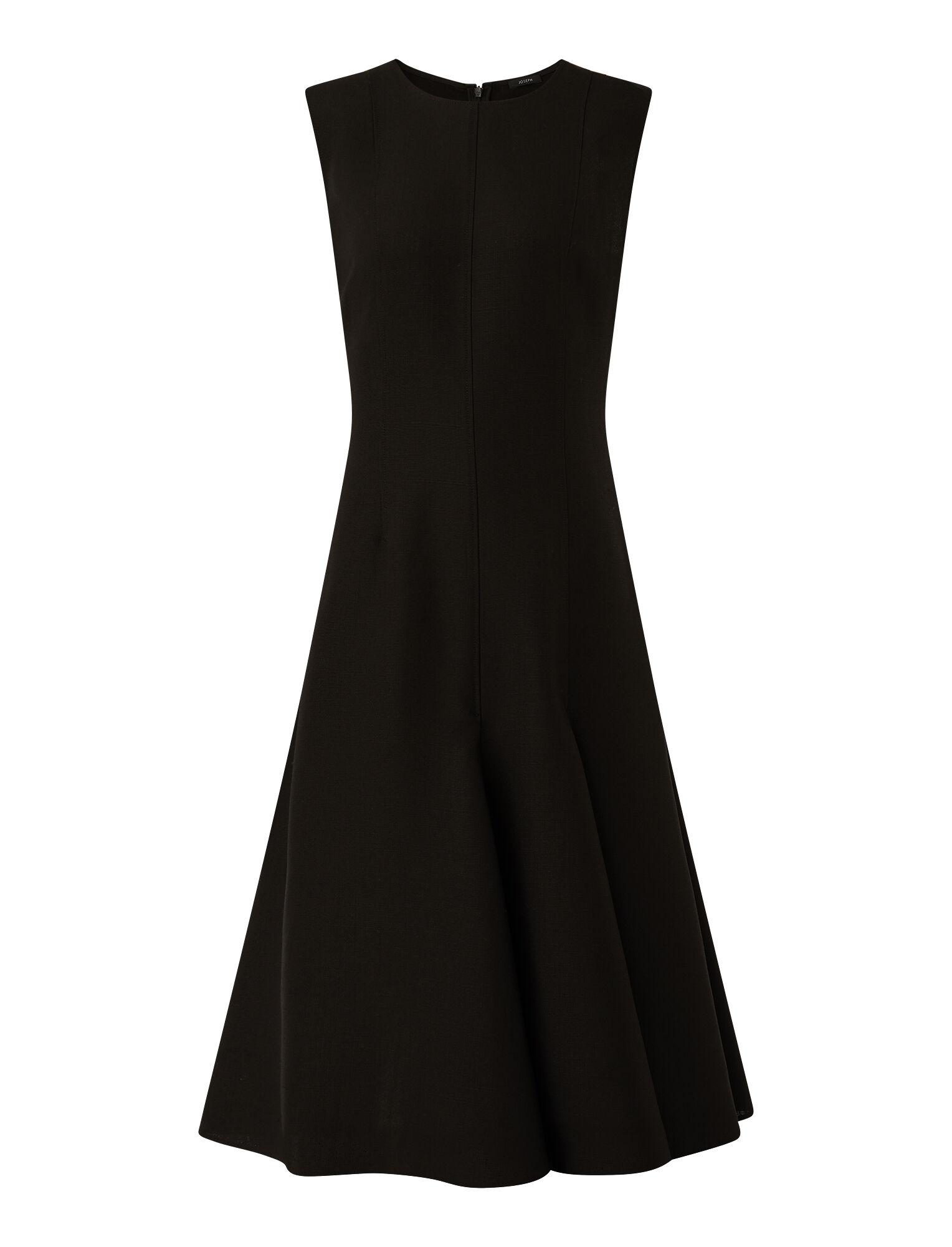 Joseph, Shantung Fowley Dress, in BLACK