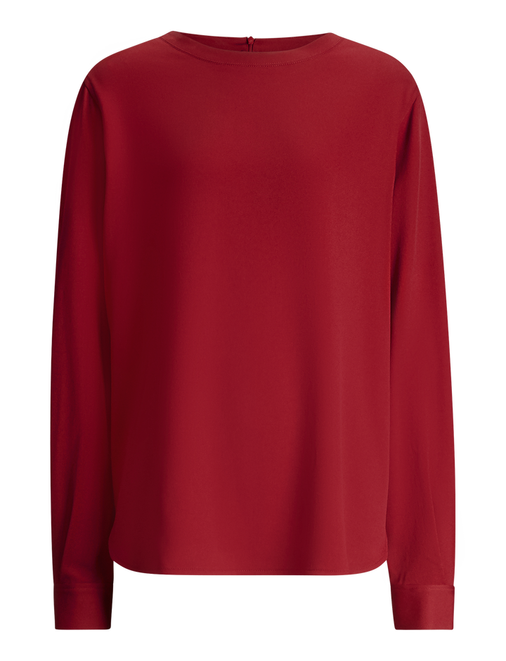 Joseph, Elliot Light Cady Blouse, in RUBY