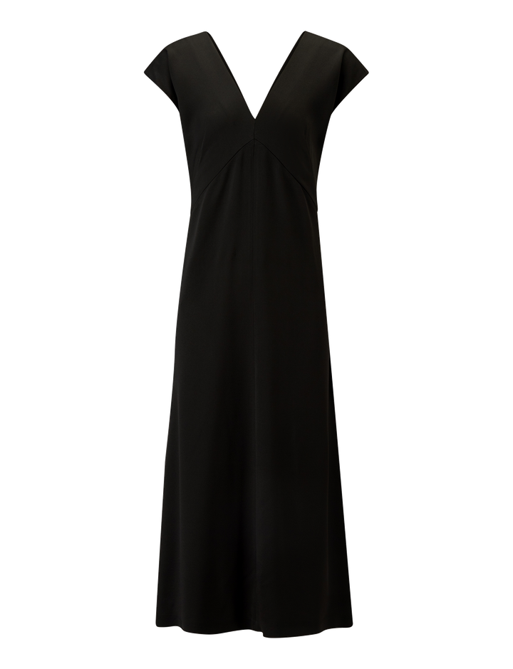 Joseph, Sienna Light Cady Dress, in BLACK