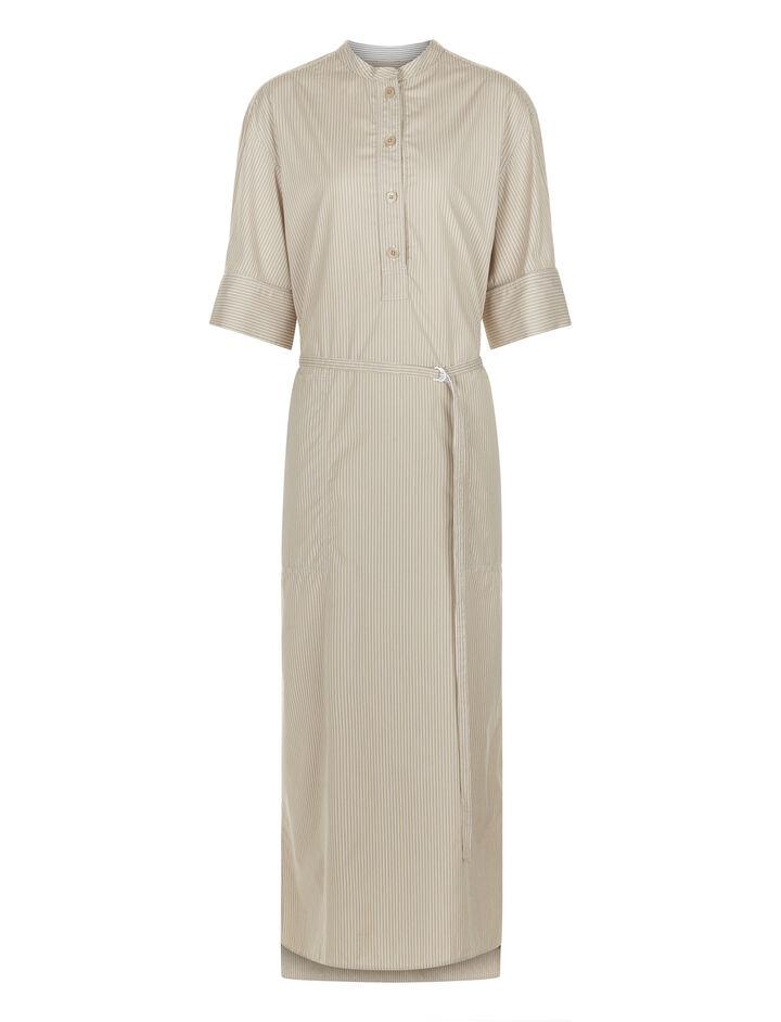 Joseph, Barker Pinstripe Mix Dress, in FLAXEN