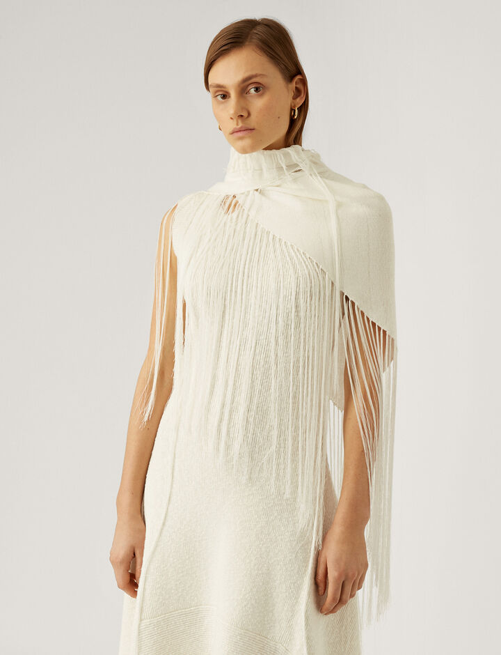 Joseph, Shawl-Crispy Cotton, in WHITE