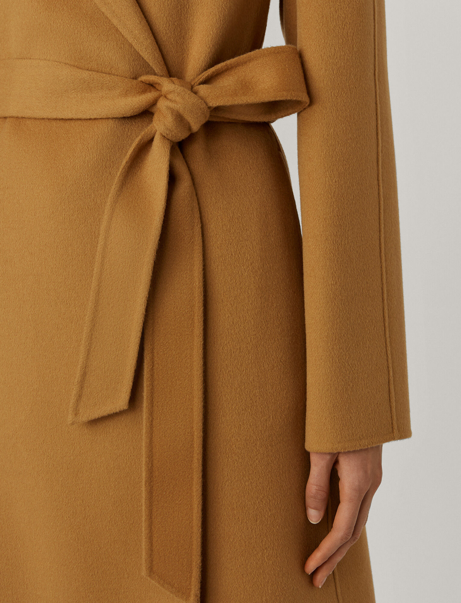 Joseph, Double Face Cashmere Cenda Long Coat, in CAMEL