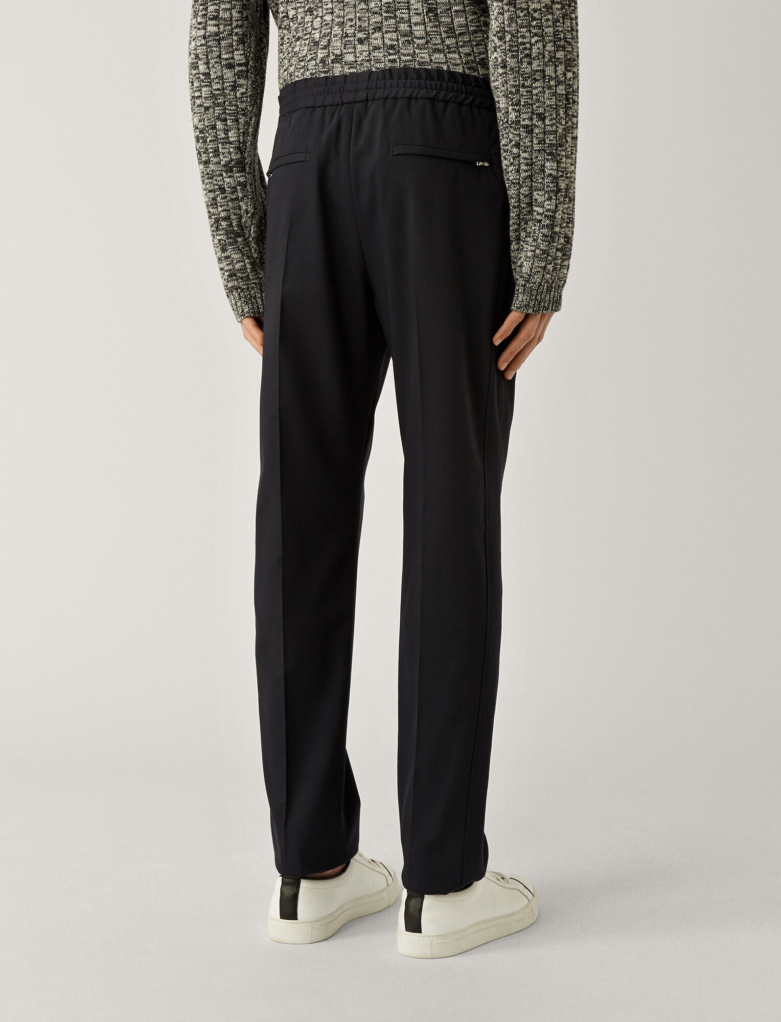 Joseph, Ettrick Fine Comfort Wool Trousers, in NAVY