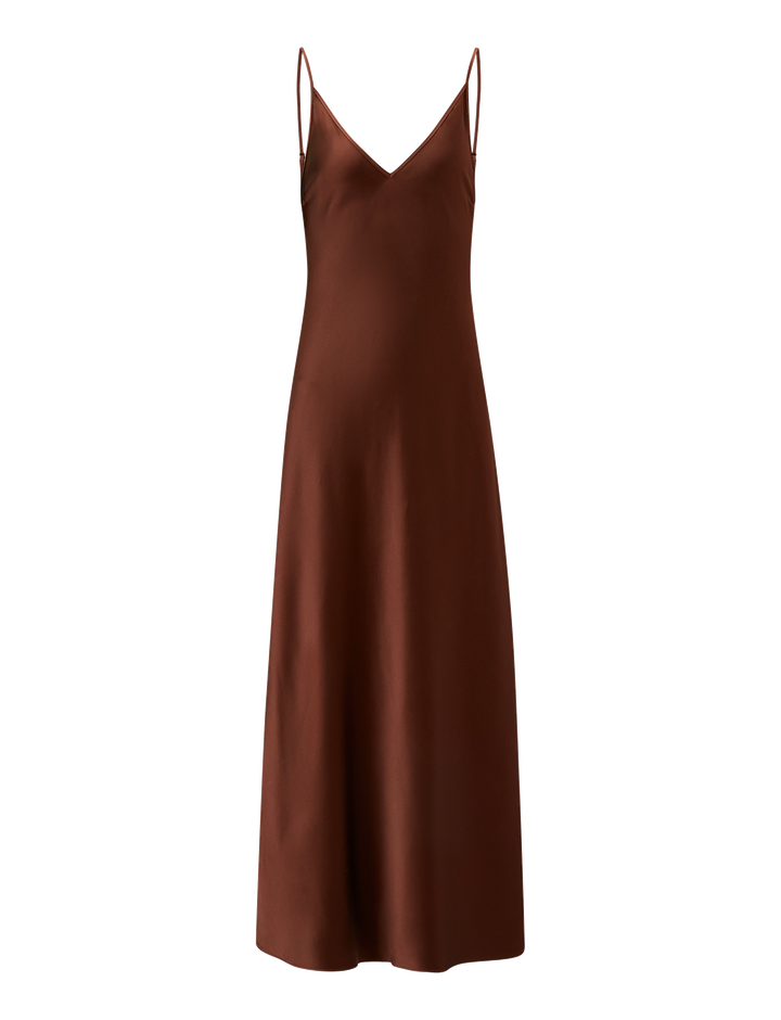 Joseph, Clea Silk Satin Dress, in RAISIN