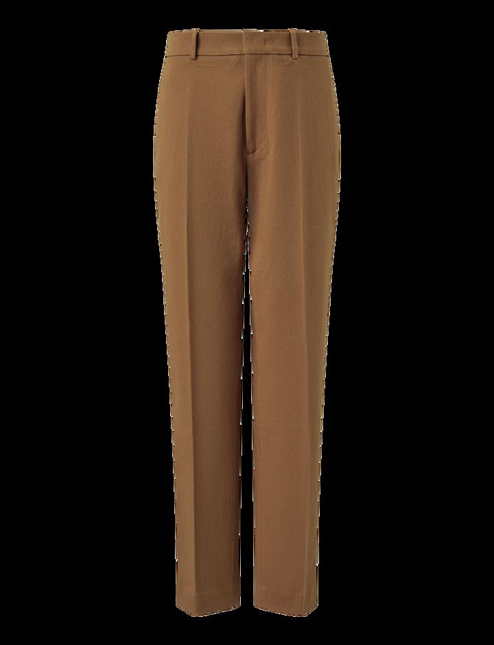Joseph, Coman Drill Stretch Trousers, in TOBACCO