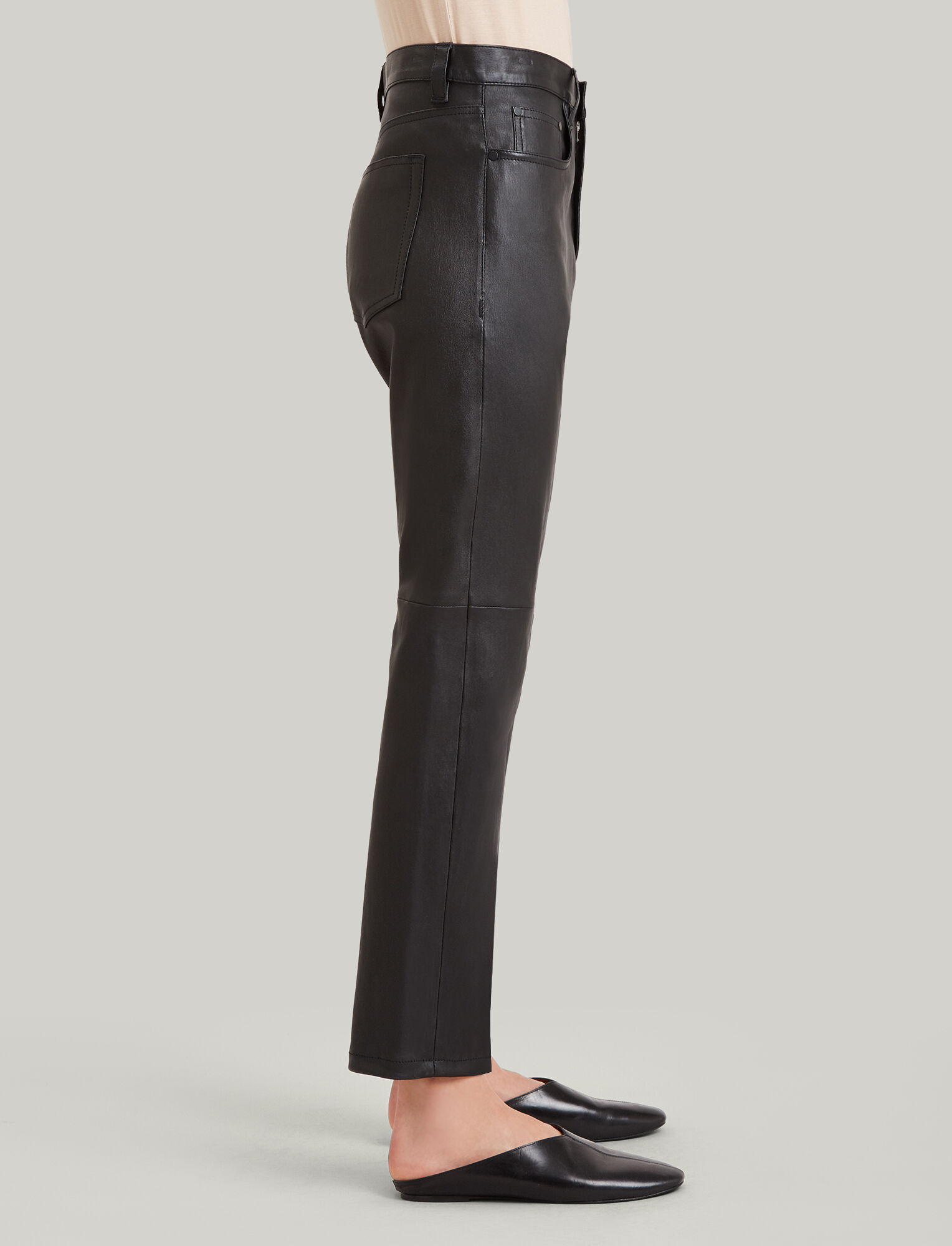 Joseph, Kemp Stretch Leather Trousers, in BLACK
