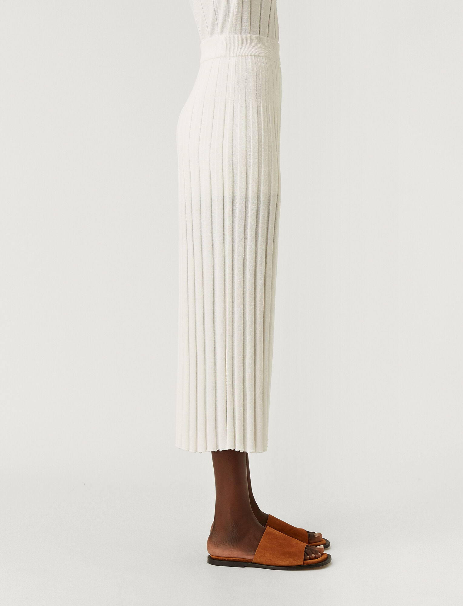 Joseph, Textured Rib Skirt, in OFF WHITE