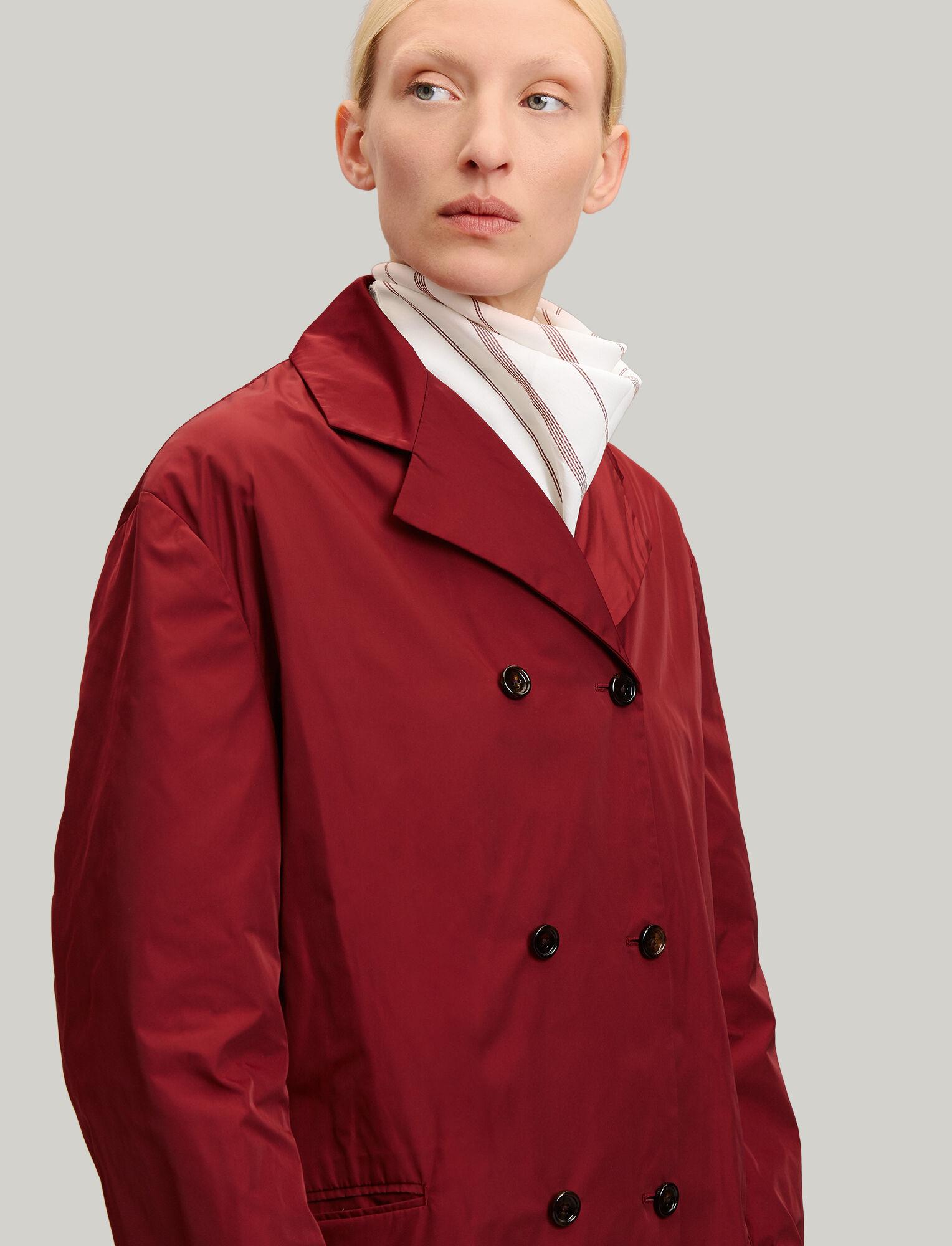 Joseph, Richter Taffeta Nylon Coat, in CLARET