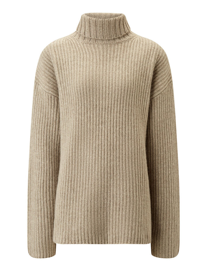 Joseph, High Nk-Cashmere Luxe, in QUARTZ