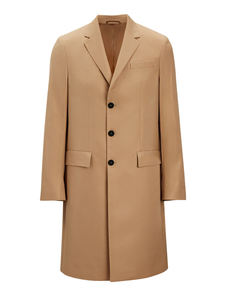 Joseph, London Cotton Nylon Blend Coat, in CAMEL