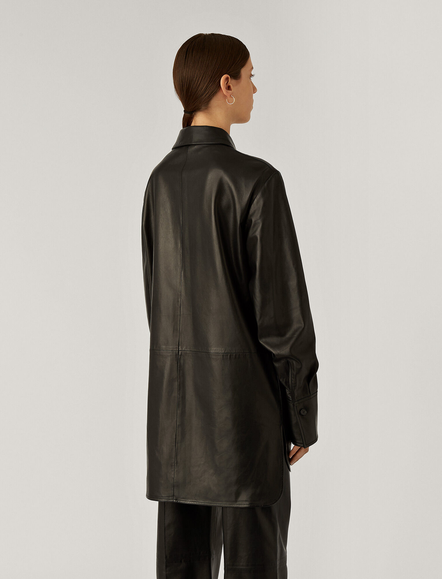 Joseph, Jason Nappa Leather Outer, in Black