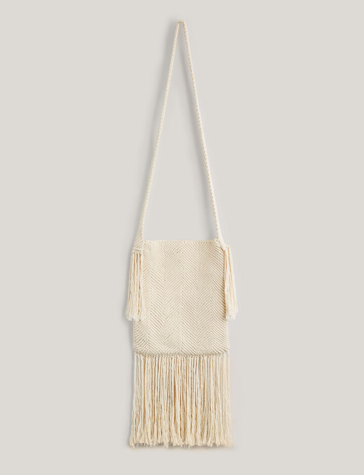 Joseph, Messenger-Weave + Fringes, in IVORY