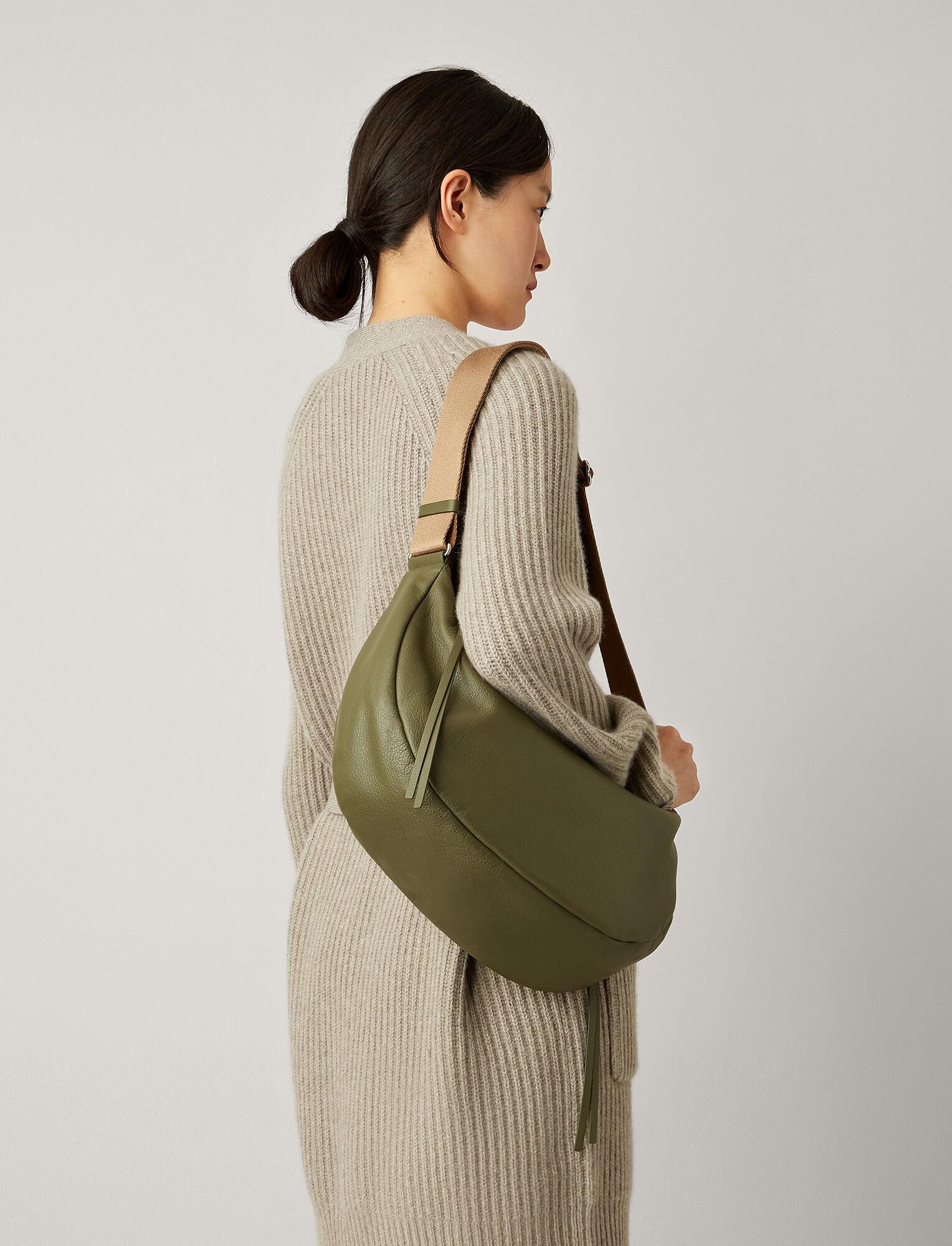 Joseph, Marylebone Leather Bag, in OLIVE