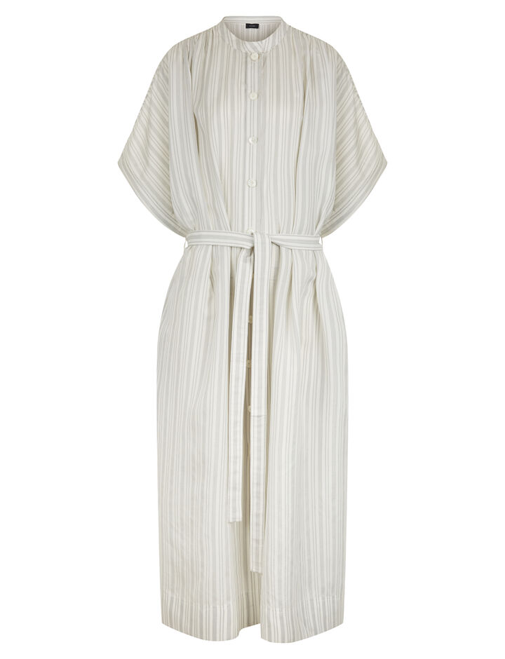 Joseph, Jasper Blanket Stripe Dress, in ECRU